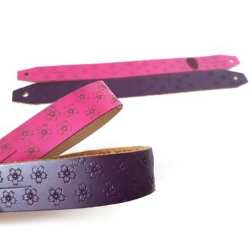 Pink & Purple Leather Men Chichigawa